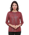Wine Red Partywear Top