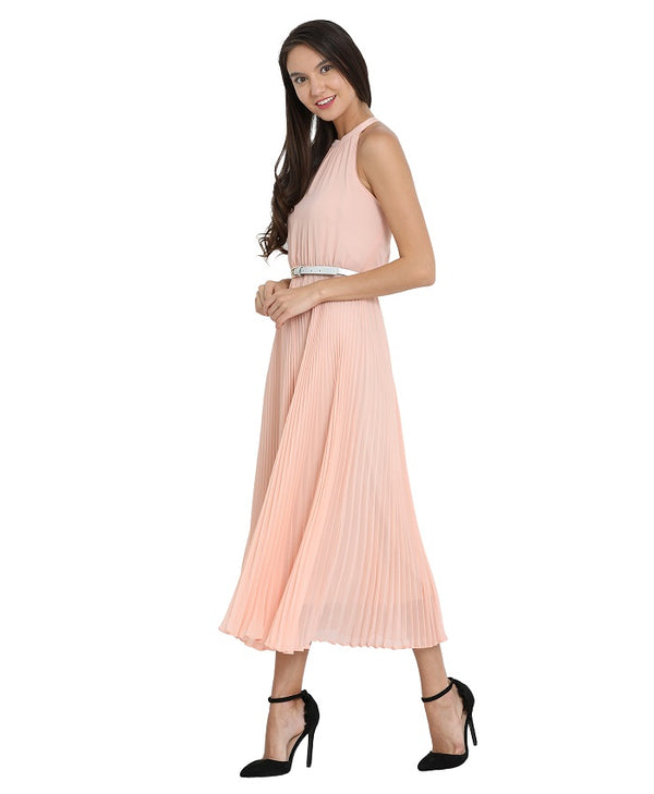 Sunray Autumn Pleated Dress