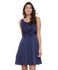 Rose Fit & Flare Navy Dress