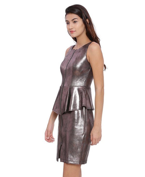 Lexi Bodycon Metallic Party Dress