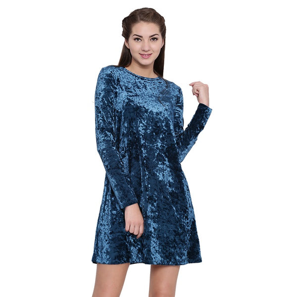 Holland Blue Velvet Dress