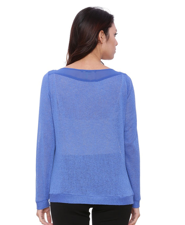 Blue Knitted Top