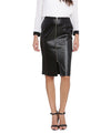 New York Black Front Zip Skirt