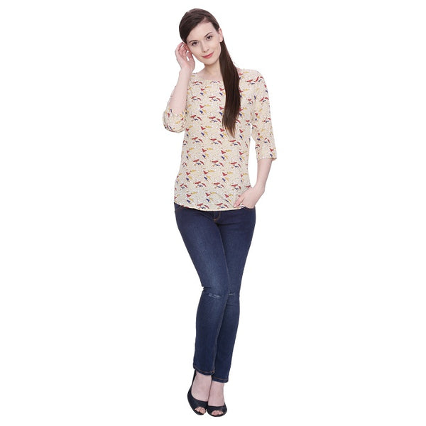 Birdy Printed Top