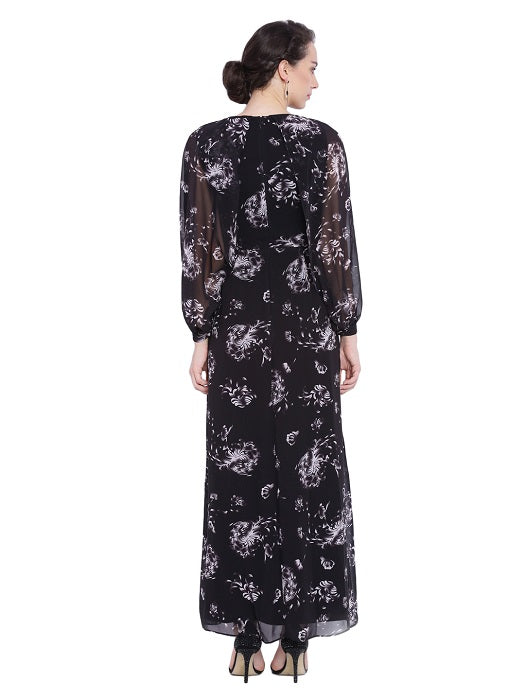 Black Bat Wing Sleeve Dress