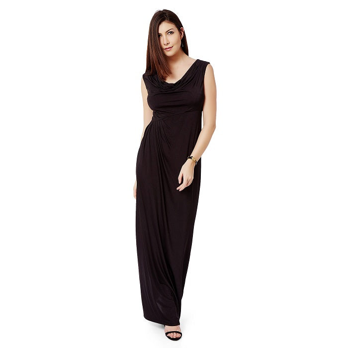 f0d16b8b2a9 Black Cowl Neck Maxi dress. maxi dresses online