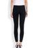 Black Double Zip Ponte Pant