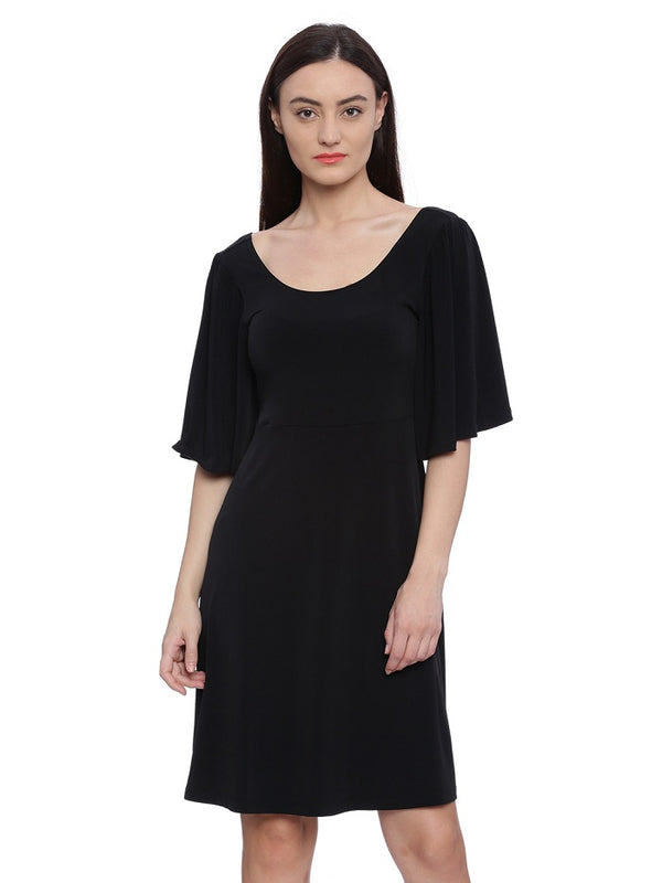 Little Lily Black dress with bell sleeves