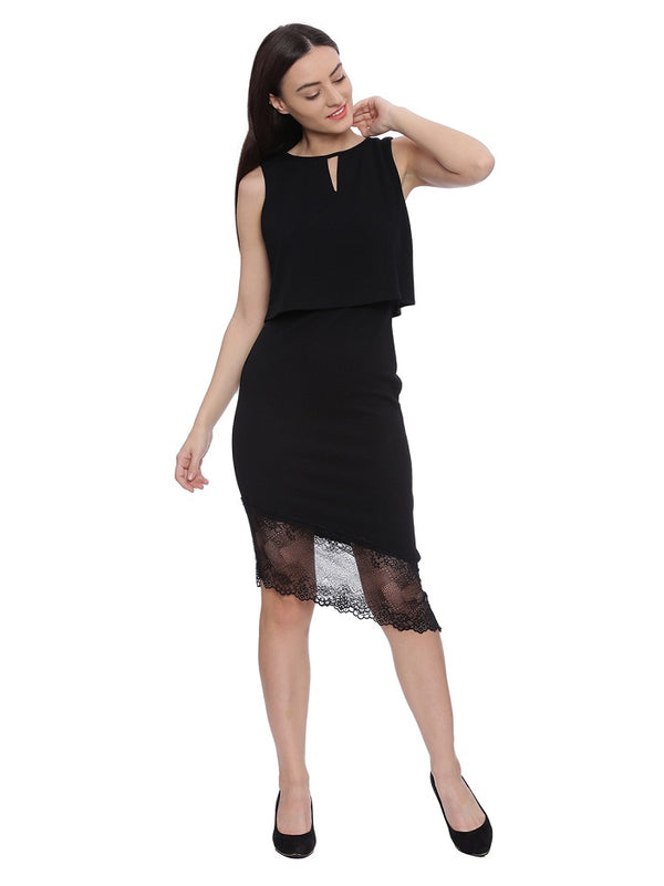 Black layered party dress