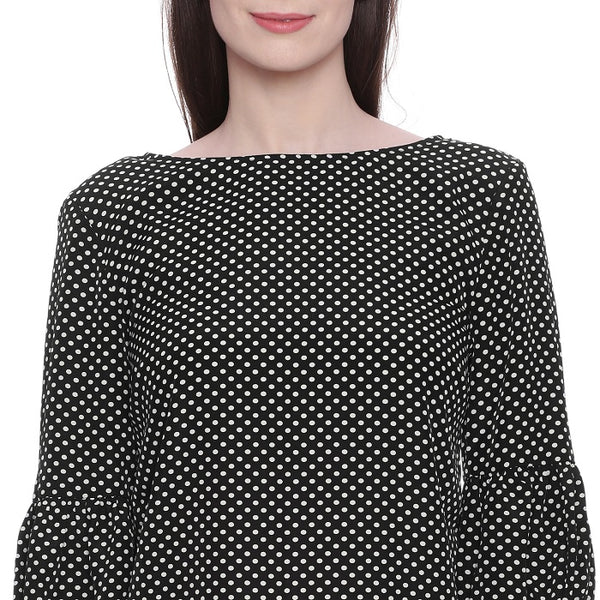 Black Polka Dotted Top