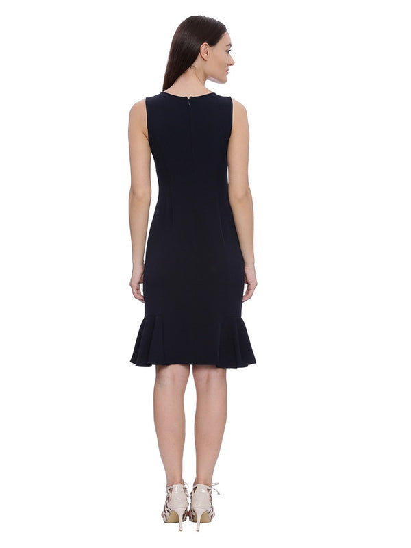 Sophie Navy Sleeveless Formal Dress