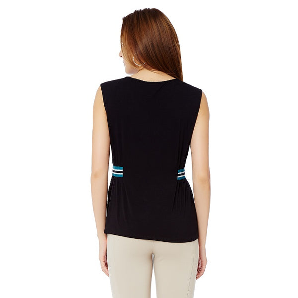 Black Top With Side Sporty Band