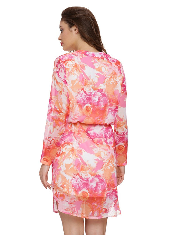 Blouson Floral Dress