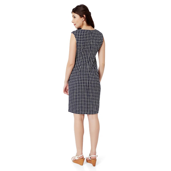 Blue Formal Check Dress