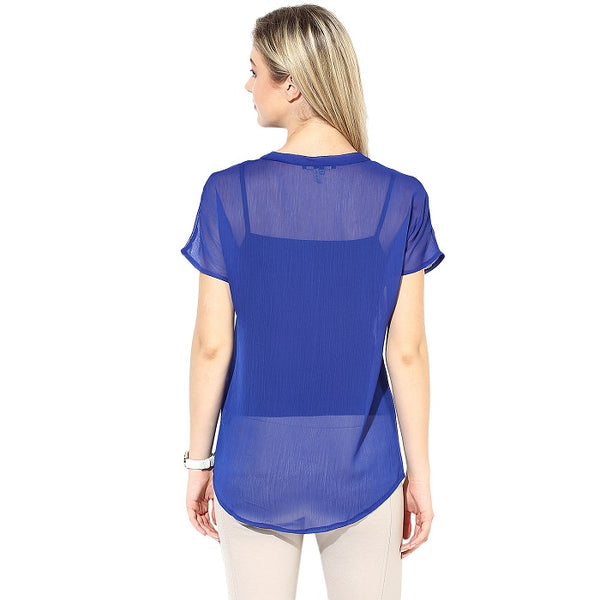 Blue Georgette Top