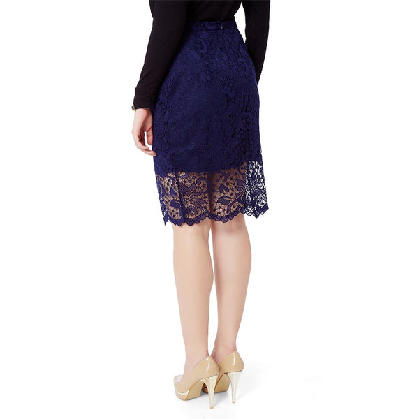 Blue Lace Skirt