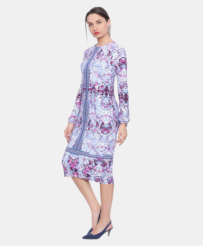 76458c2dbb Buy Blue Printed Western Dress Online - Party Wear Dresses For Women    Avirate Fashions