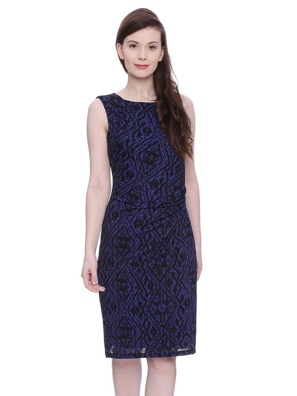 Blue Round Neck Dress