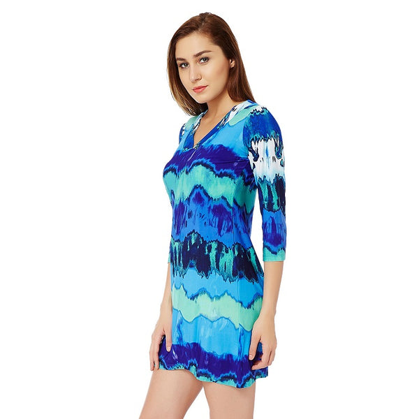 Blue Tie and Die Tunic