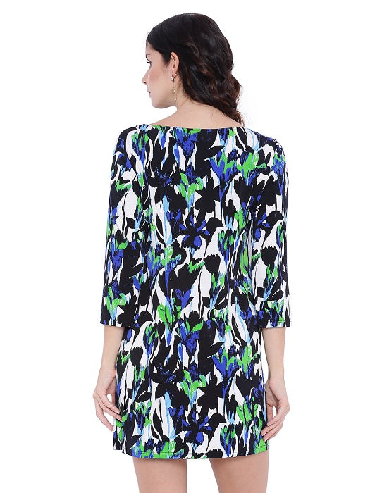 Boat Neck Multicolour Tunic
