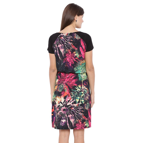 Bright Floral Casual Dress