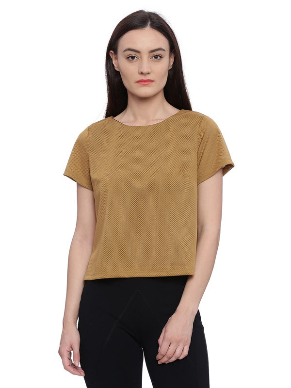 Brown casual top