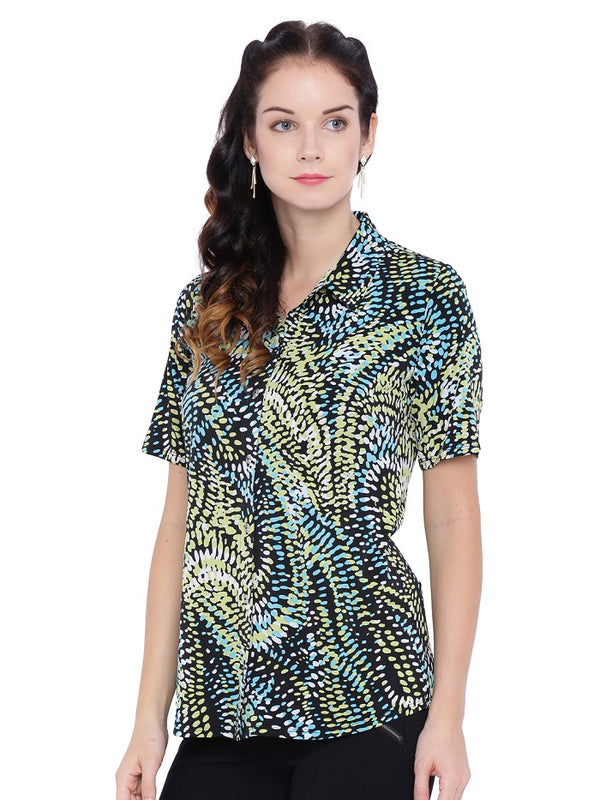 Digital Brush Print Shirt