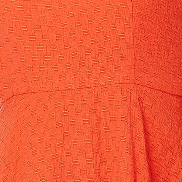 Fluorescent Orange Dress