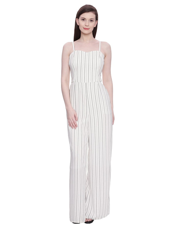 Formal Pencil Striped Jumpsuit