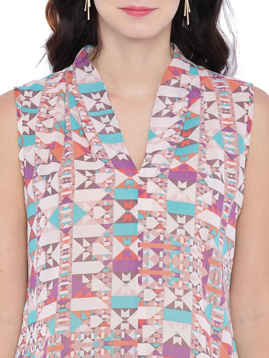 Geometric Printed Top