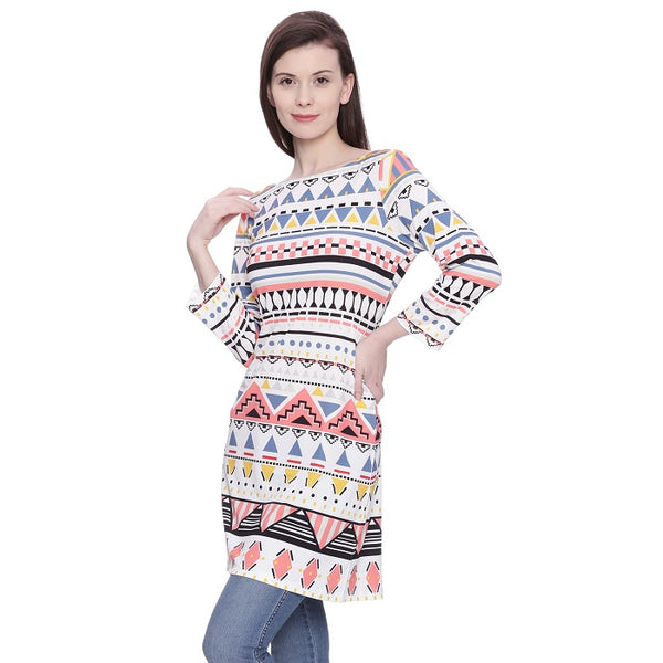 Geometric Printed Tunic