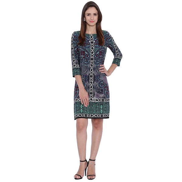 Green Shaded Sheath Dress