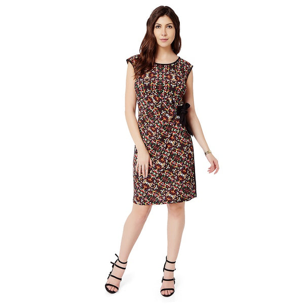 Jewel Print Faux wrap dress