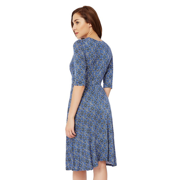 Mosaic Printed Viscose Dress