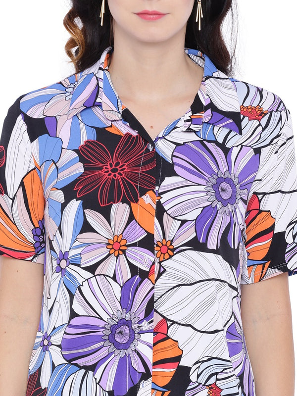 Multicolor Digital Print Shirt