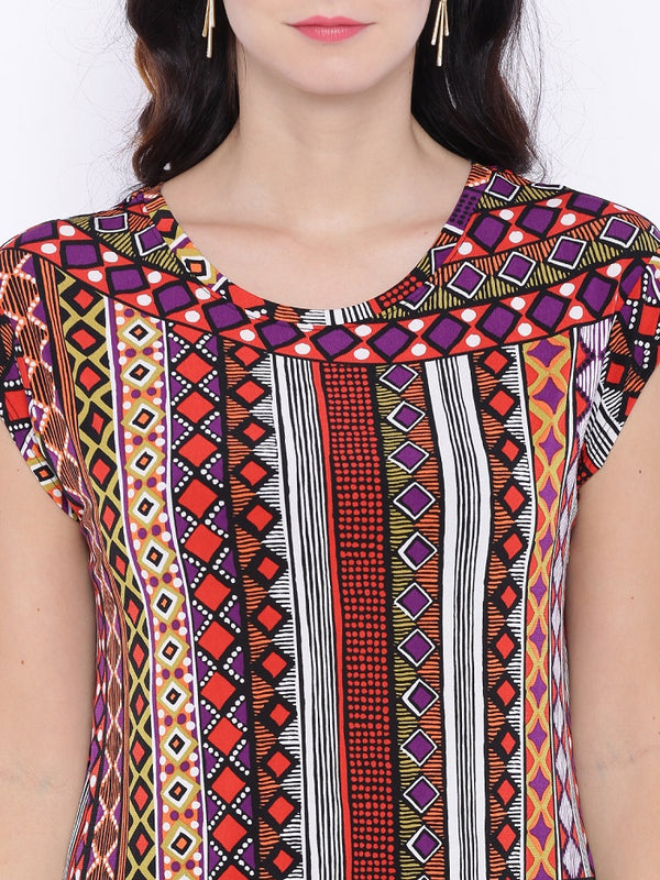 Multicolor Digital Print Top