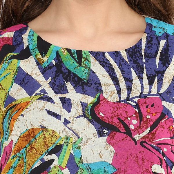 Multicolour Blouson Tunic