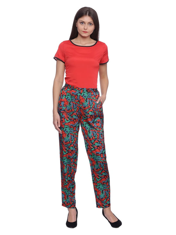 Multicolour Silk Touch Trouser