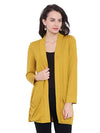 Mustard Long Sleeves Shrug