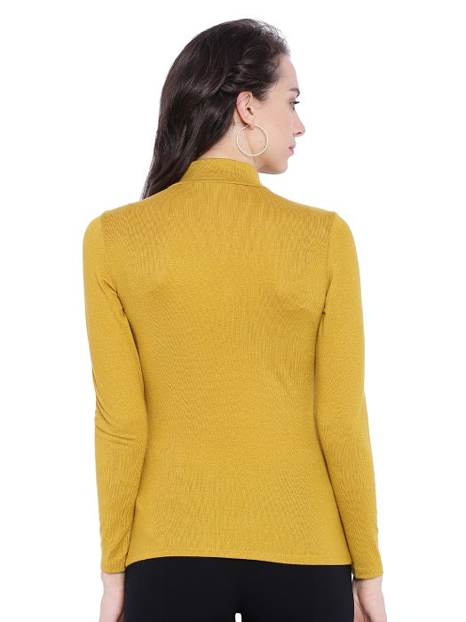 Mustard Turtleneck Sweater