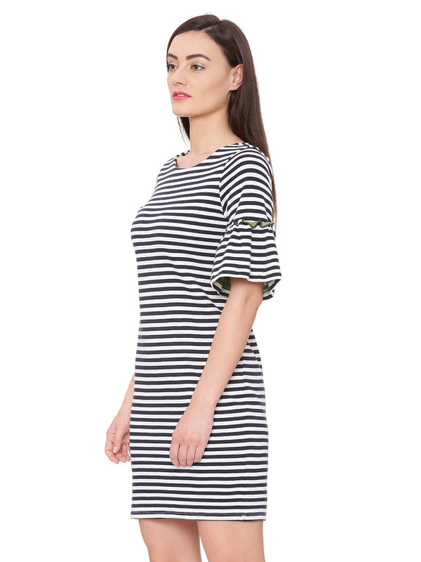 Nautical striped Knit Dress