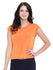 Orange Cap Sleeves Top