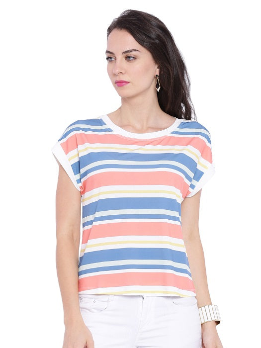 Pastel Coloured Striped Top