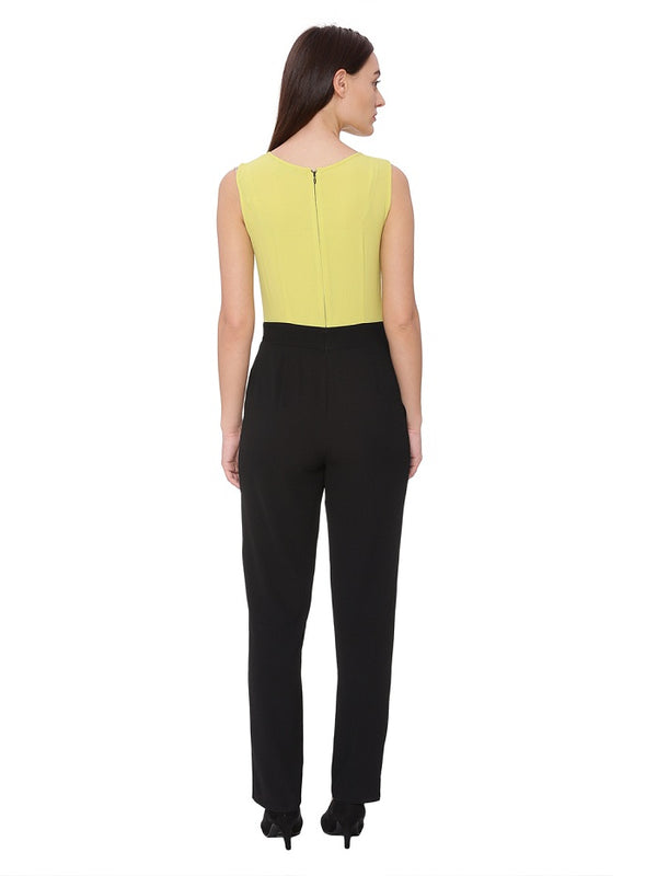 Pear Glow Black Jumpsuit