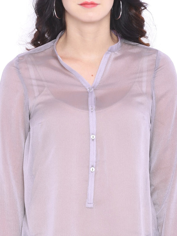 Purple Chiffon Shirt