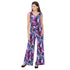 Purple Printed Jumpsuit