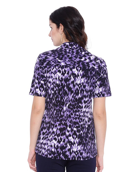 Purple Printed Shirt