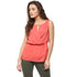 Red Elastic Waist  Band Top