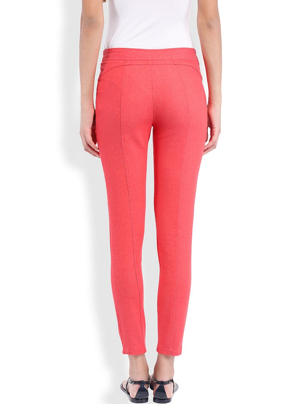 Red Full Length Pant