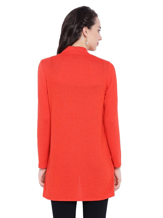 Red Long Sleeves Shrug